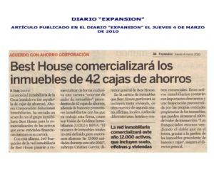 Franquicia Inmobiliaria Best House - Expansión - Foto [vc_row][vc_column][vc_column_text] BEST HOUSE COMERCIALIZARÁ LOS INMUEBLES DE 42 CAJAS DE AHORROS La sociedad inmobiliaria de la Ceca (confederación española de cajas de ahorros), Ahorro Corporación