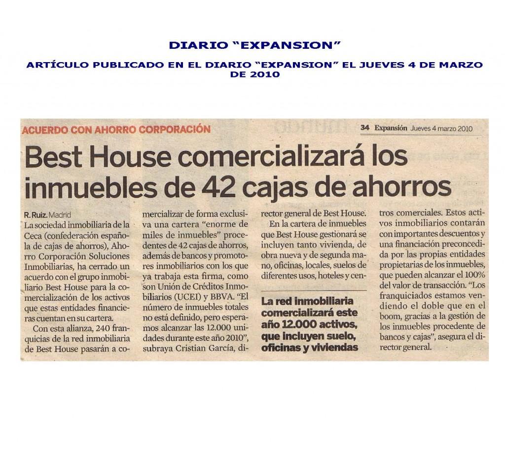 Franquicia Inmobiliaria Best House – Expansión