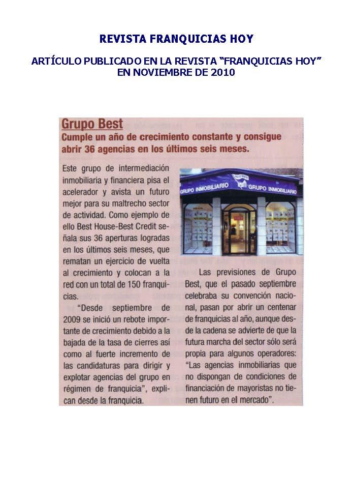 Franquicia Inmobiliaria Best House y Best Credit – FranquiciasHoy