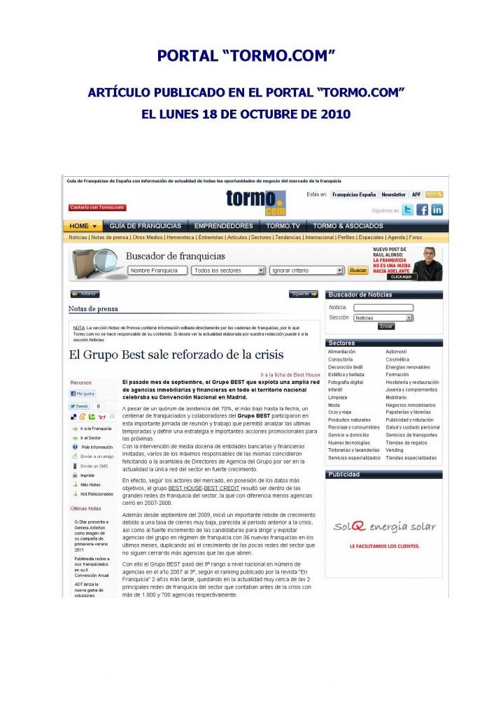 Franquicia Inmobiliaria Best House – Tormo 2
