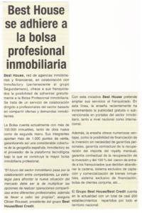 Franquicias inmobiliaria Best House y franquicia financiera Best Credit – revistas, opiniones, comentarios –el 1 de mayo de 2008 – MAGAZINE DE INMUEBLE - foto