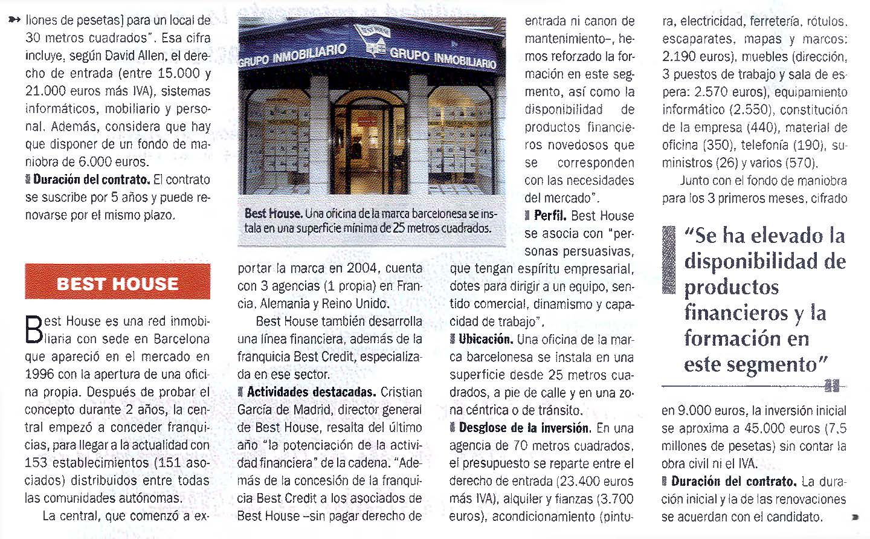 Franquicia Inmobiliaria Best House y Best Credit – Inmueble